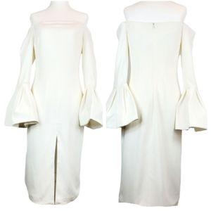 NWOT Alexis White Off Shoulder Bell Sleeve Dress